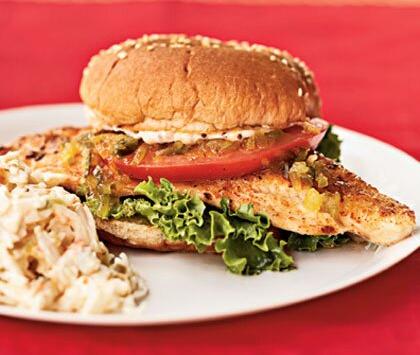 Catfish Sandwiches with Creole Mayonnaise