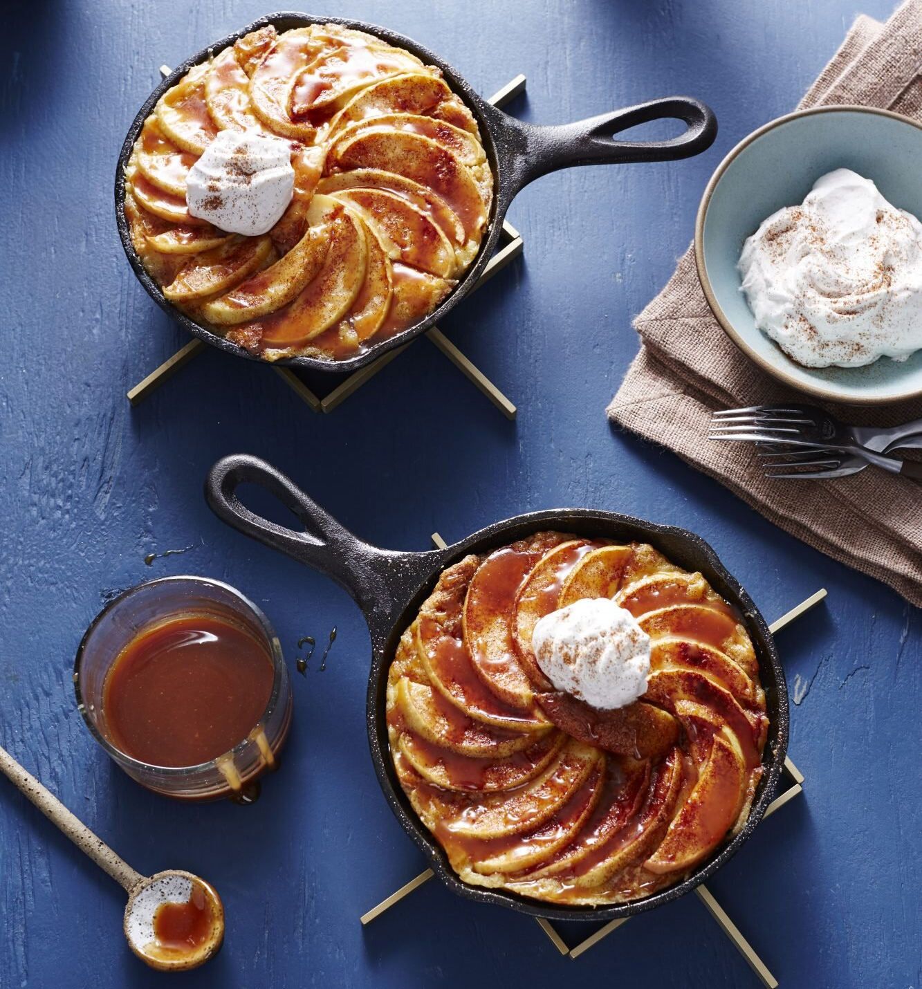 Caramel Apple French Toast Skillets